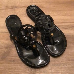 Size 7 Black Tory Burch Miller Sandals
